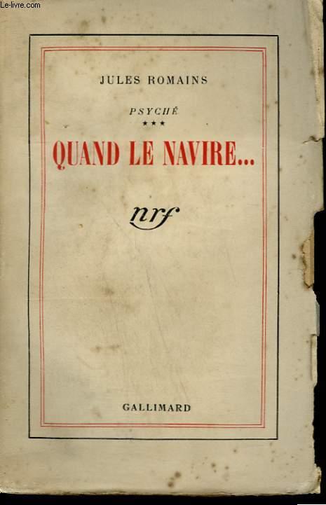 PSYCHE TOME 3 : QUAND LE NAVIRE.
