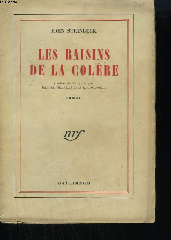 LES RAISINS DE LA COLERE. ( THE GRAPES OF WRATH ).