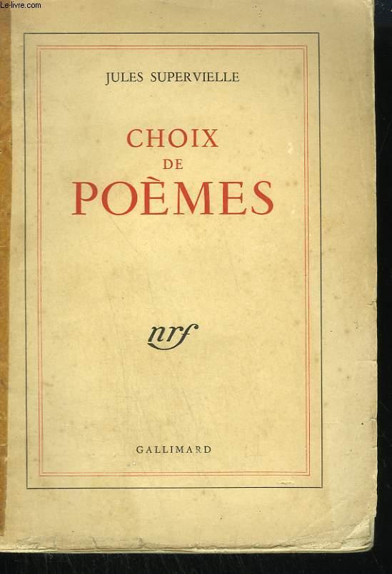 CHOIX DE POEMES.
