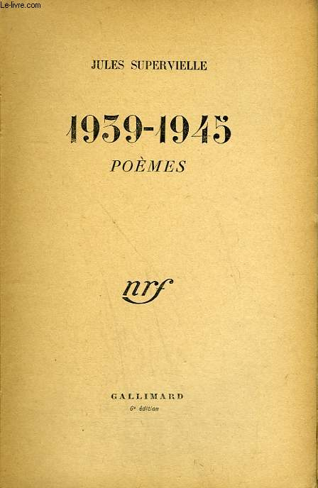 1939-1945. POEMES.