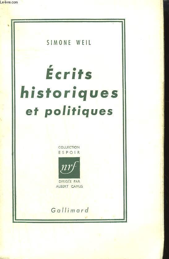 ECRITS HISTORIQUES ET POLITIQUES.