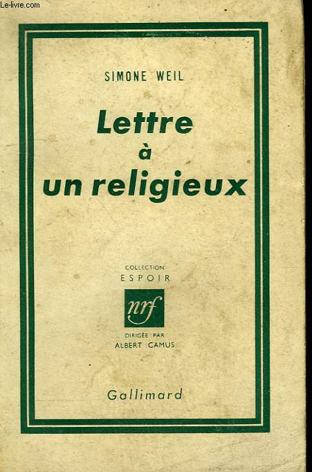 LETTRE A UN RELIGIEUX.