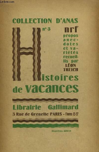 HISTOIRES DE VACANCES. COLLECTION D'ANAS N° 3
