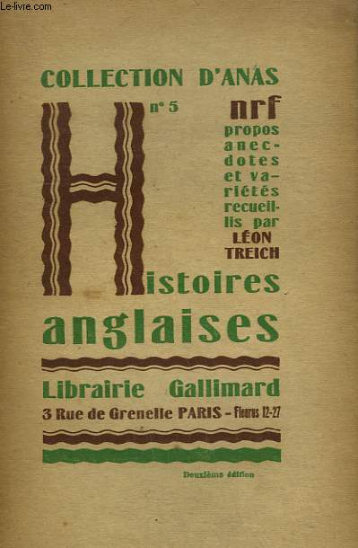 HISTOIRES ANGLAISES. COLLECTION D'ANAS N° 5