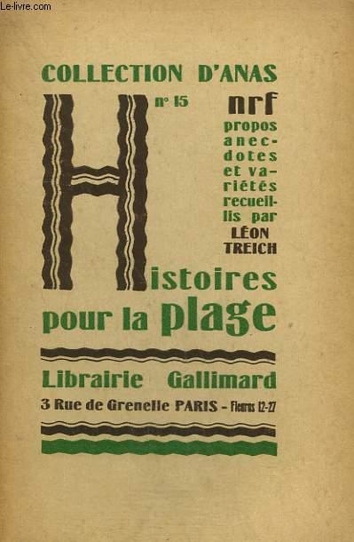 HISTOIRES POUR LA PLAGE. COLLECTION D'ANAS N° 15