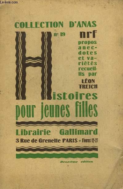 HISTOIRES POUR JEUNES FILLES. COLLECTION D'ANAS N° 19