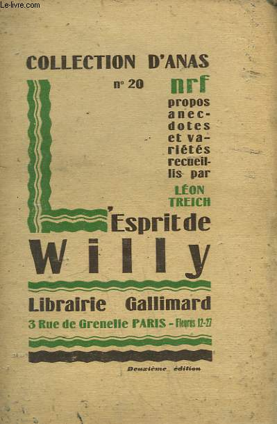 L'ESPRIT DE WILLY. COLLECTION D'ANAS N° 20