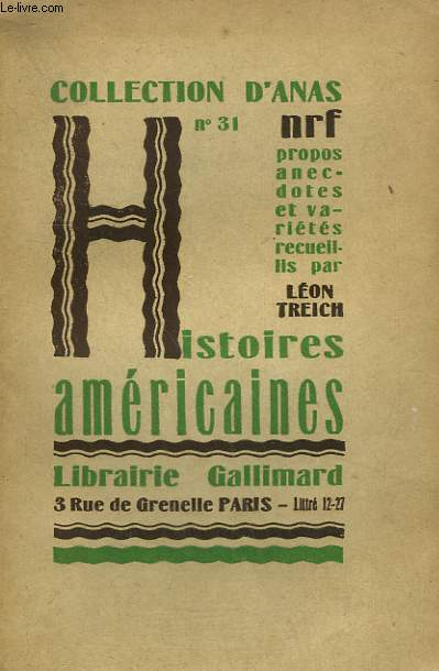HISTOIRES AMERICAINES. COLLECTION D'ANAS N° 31