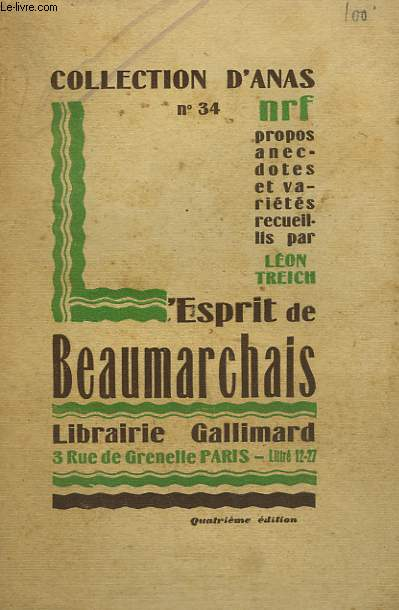 L'ESPRIT DE BEAUMARCHAIS. COLLECTION D'ANAS N° 34