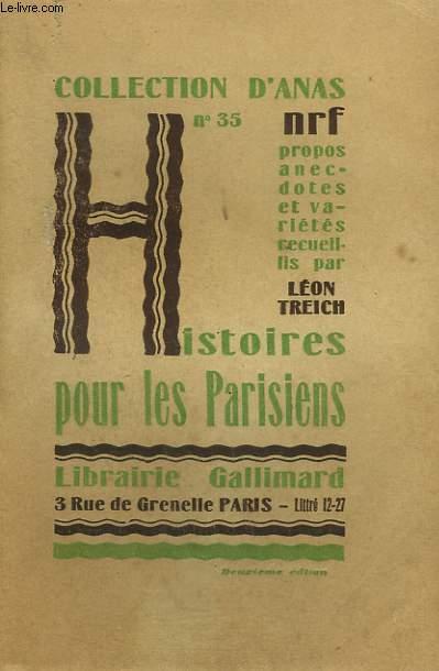 HISTOIRES POUR LES PARISIENS. COLLECTION D'ANAS N° 35