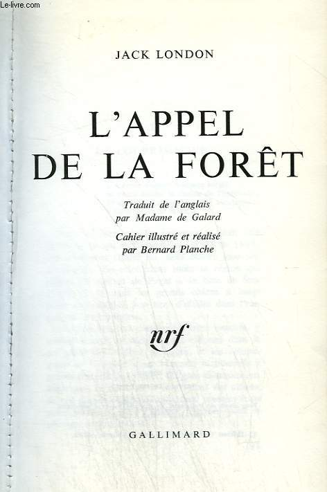 L appel de la foret. collection : 1 000 soleils.