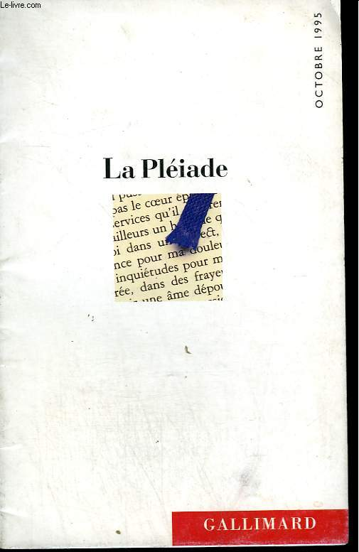 CATALOGUE DE PRIX N° 100 - OCTOBRE 1995. BIBLIOTHEQUE ET ENCYCLOPEDIE DE LA PLEIADE.