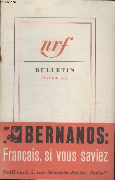 BULLETIN FEVRIER 1961 N°157.