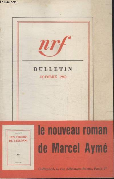 BULLETIN OCTOBRE 1960 N°153.