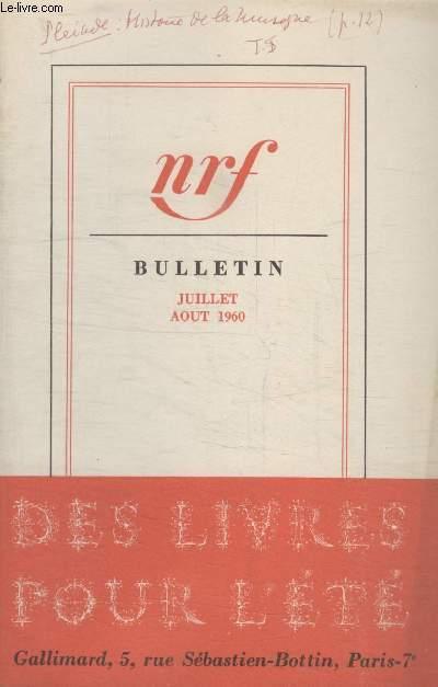 BULLETIN JUILLET- AOUT 1960 N°151.