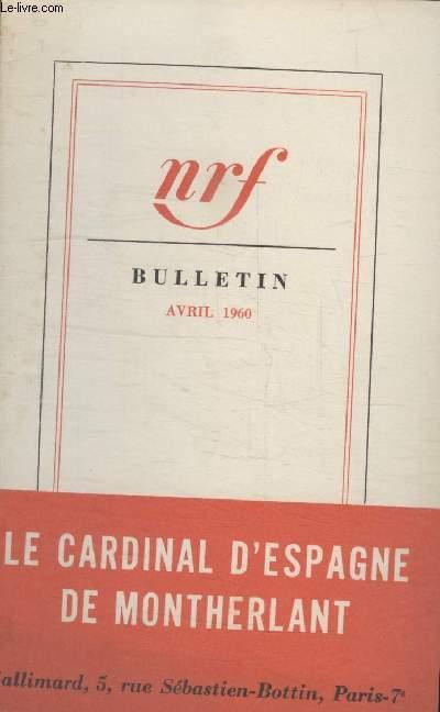 BULLETIN AVRIL 1960 N°148.