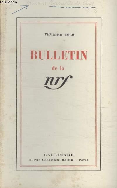 BULLETIN FEVRIER 1950 N°32. PUBLICATIONS DE FEVRIER/ PUBLICATIONS DE JANVIER/ EDITIONS DE LUXE/ BIBLIOTHEQUE DE LA PLEIADE/ RELIURES DEDITEUR/ OEUVRES COMPLETES DE PAUL CLAUDEL/ BIBLIOTHEQUE DE PHILOSOPHIE/ COLLECTION LES PROVINCES FRANCAISES.