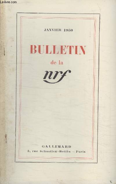 BULLETIN JANVIER 1950 N°31.
