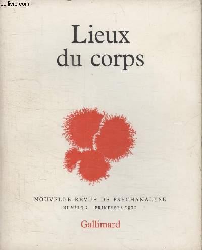 COLLECTION NOUVELLE REVUE DE PSYCHANALYSE N° 3. LIEUX DU CORPS.