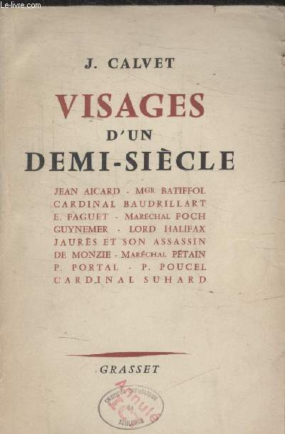 VISAGES DUN DEMI SIECLE.