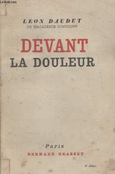 DEVANT LA DOULEUR.