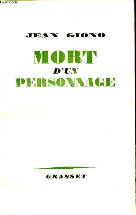 MORT D UN PERSONNAGE.