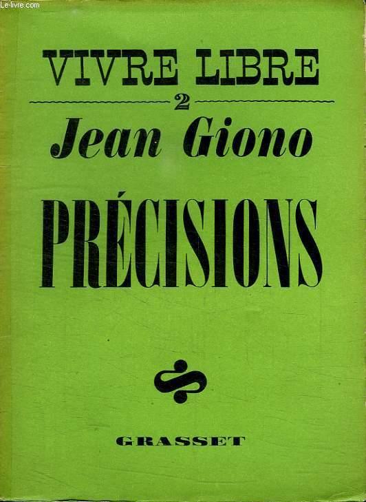 VIVRE LIBRE 2.PRECISIONS.