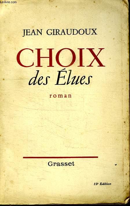 CHOIX DES ELUES.