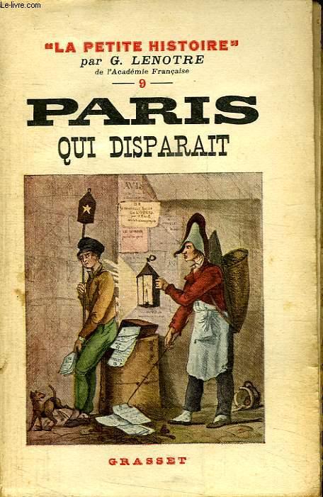 PARIS QUI DISPARAIT.