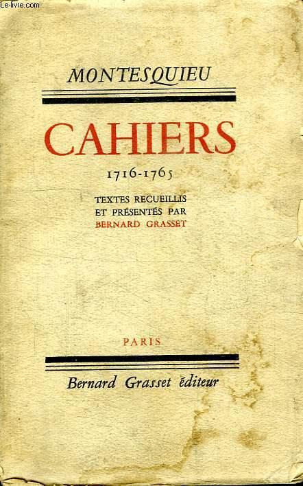 CAHIERS 1716-1765.