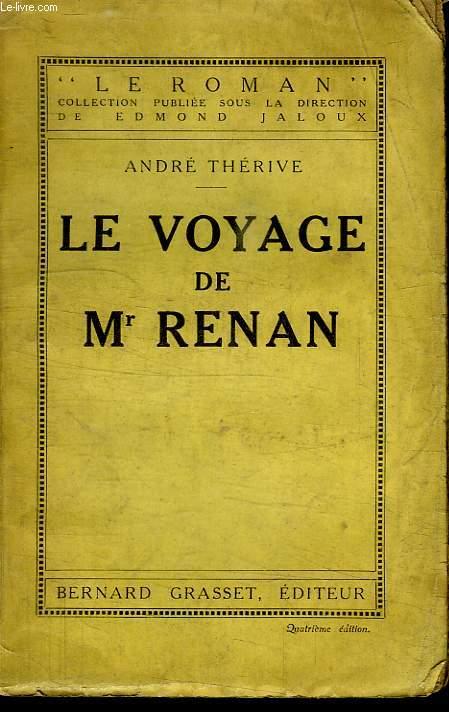 LE VOYAGE DE Mr RENAN.