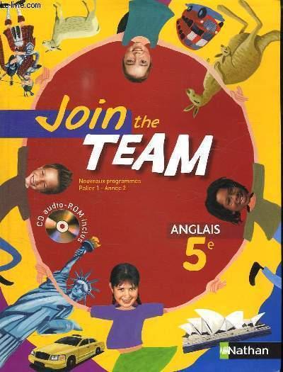 JOIN THE TEAM 5e ANGLAIS. CD AUDIO ROM  FOURNI.