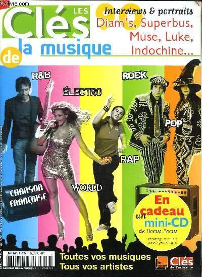 LES CLES DE LA MUSIQUE. R AND B. ELECTRO. ROCK. POP. RAP. WORLD.