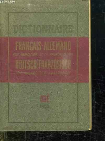 DICTIONNAIRE FRANCAIS ALLEMAND ET ALLEMAND FRANCAIS.