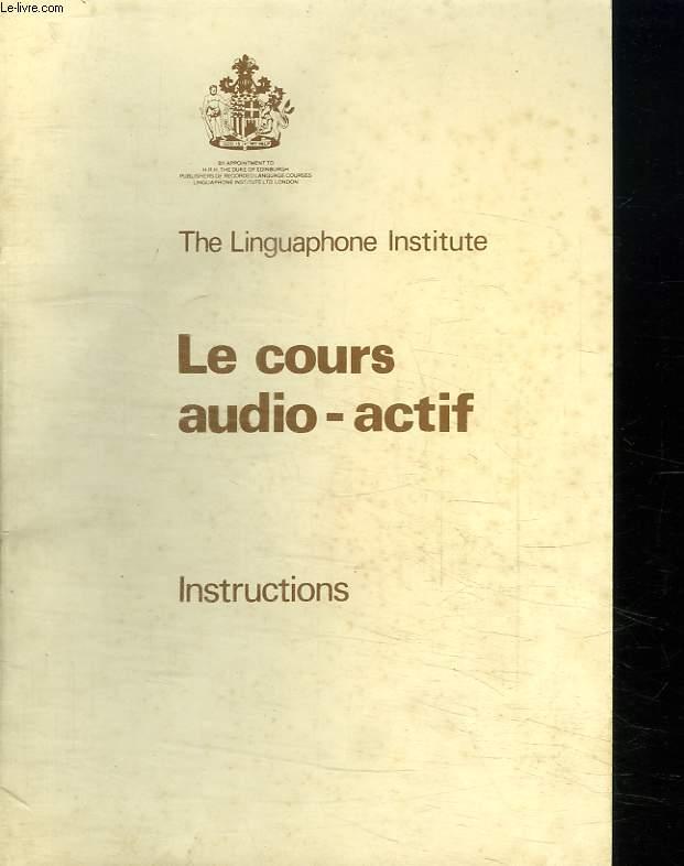 LE COURS AUDIO ACTIF. SANS LES CASSETTES.