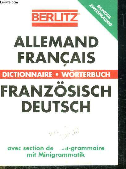 DICTIONNAIRE ALLEMAND FRANCAIS ET FRANCAIS ALLEMAND.