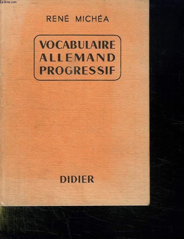 VOCABULAIRE ALLEMAND PROGRESSIF. SECONDE EDITION.