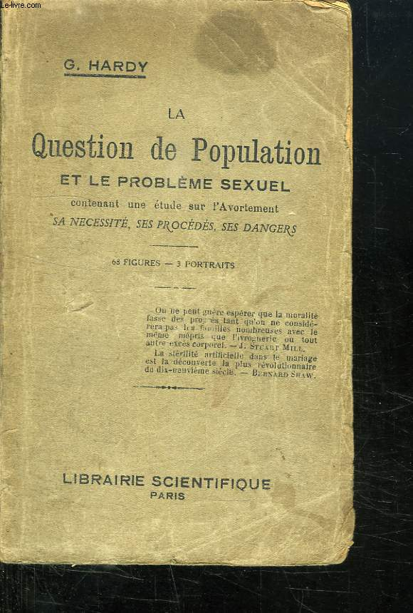 LA QUESTION DE POPULATION ET LE PROBLEME SEXUEL.