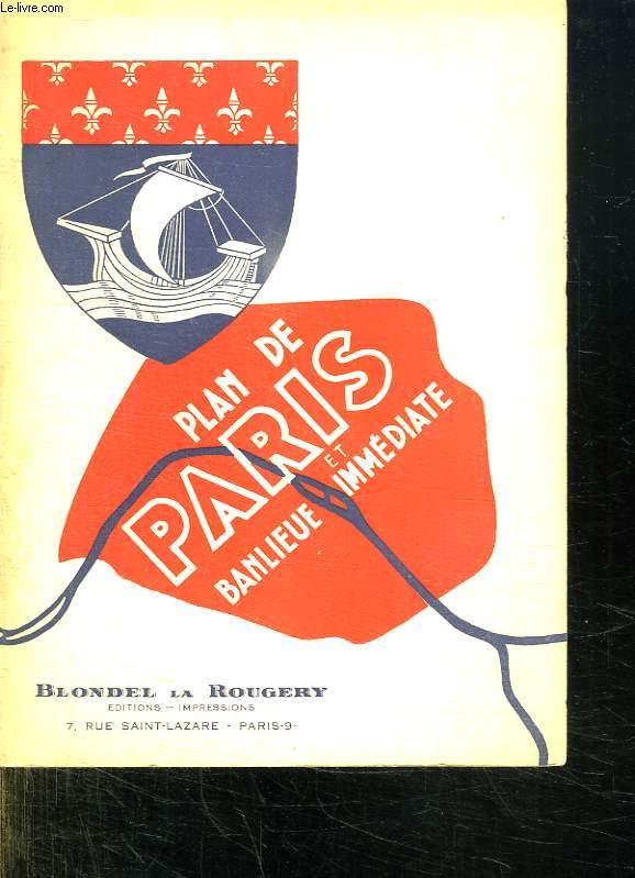 PLAN GUIDE BLONDEL. PARIS ET BANLIEUE.
