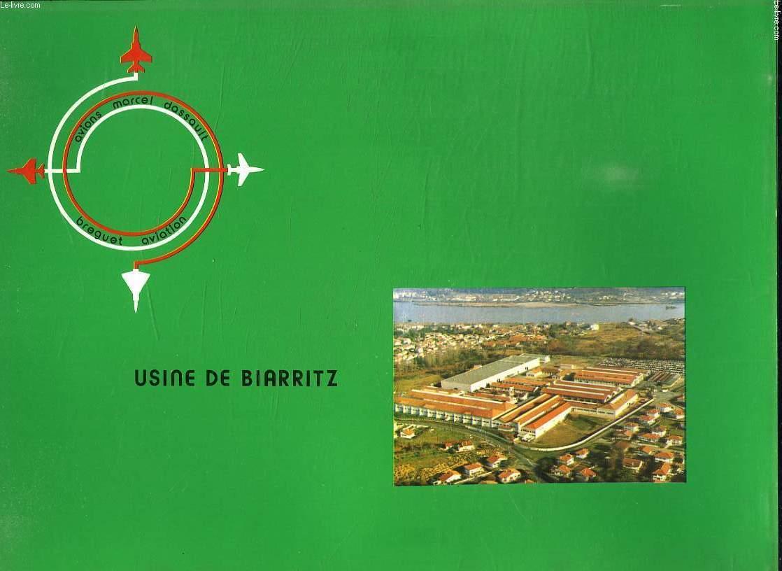 POCHETTE. USINE DE BIARRITZ. AVIONS MARCEL DASSAULT.