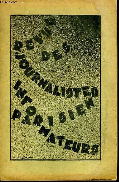 REVUE DES JOURNALITES INFORMATEURS PARISIEN. N° 12.