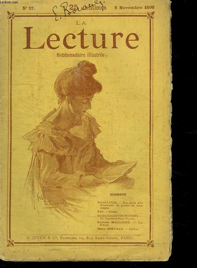 LA LECTURE HEBDOMADAIRE ILLUSTREE. N° 57. 5 NOVEMBRE 1898. TOME HUITIEME.
