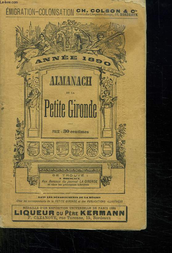 ALMANACH DE LA PETITE GIRONDE 1890