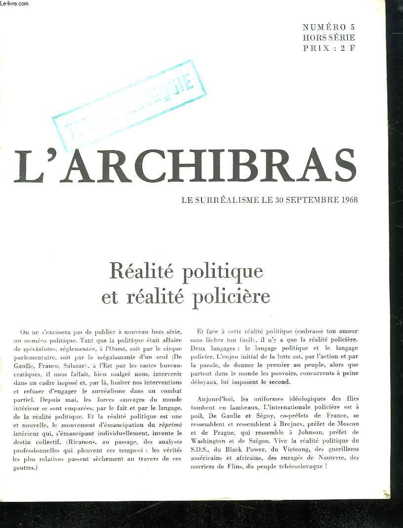 L ARCHIBRAS. TCHECOSLOVAQUIE. N° 5. HORS SERIE.