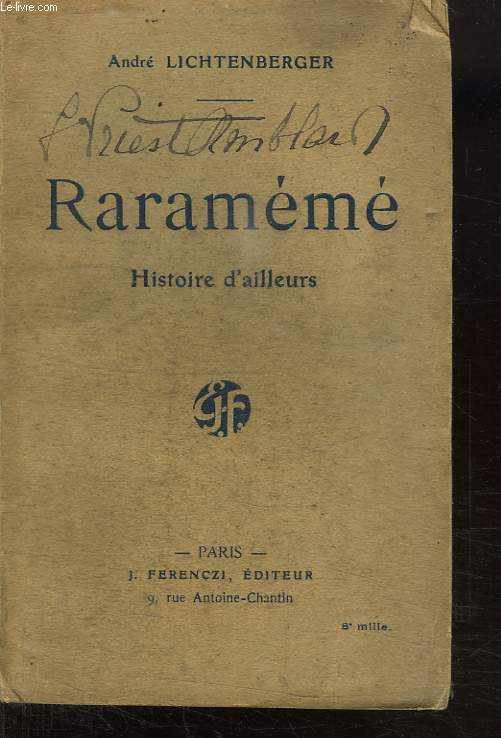 RARAMEME. HISTOIRE D AILLEURS.