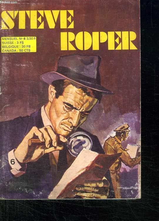 STEVE ROPER N° 6. LE MYSTERIEUX CARNET.