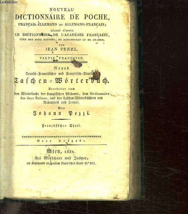 NOUVEAU DICTIONNAIRE DE POCHE FRANCAIS ALLEMAND.