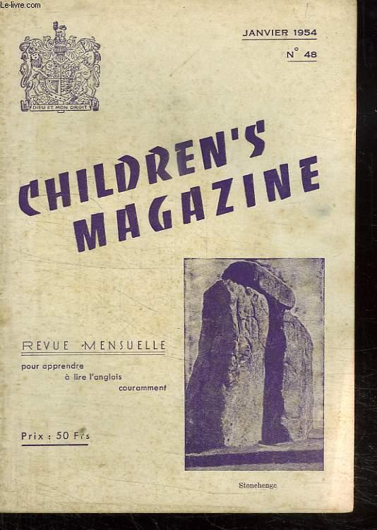 CHILDREN S MAGAZINE. N° 48 JANVIER 1954. REVUE POUR APPRENDRE A LIRE L ANGLAIS COURAMMENT.