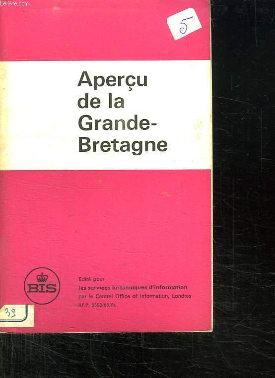 APERCU DE LA GRANDE BRETAGNE.