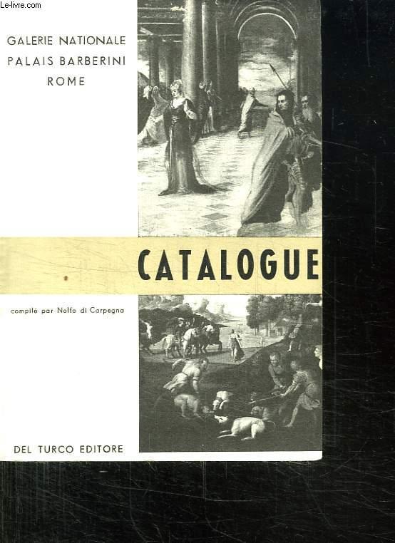 GALERIE NATIONALE PALAIS BARBERINI ROME. CATALOGUE.